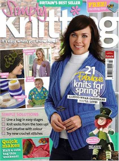Bestselling Magazines (2008) - Simply Knitting
