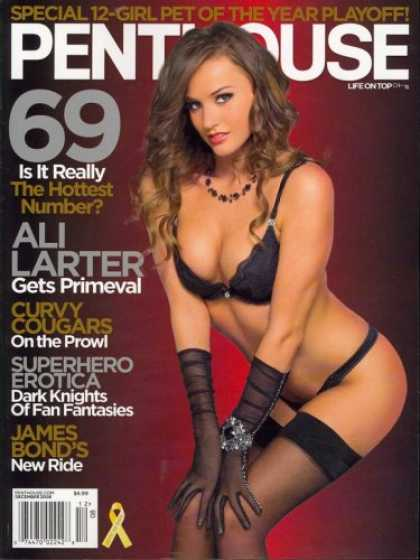Bestselling Magazines (2008) - Penthouse, December 2008 Issue