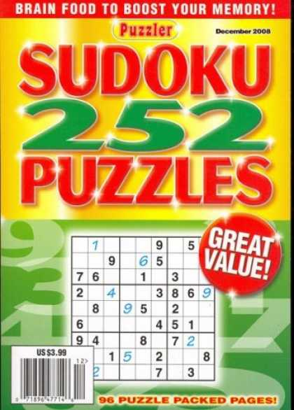 Bestselling Magazines (2008) - Sudoku, December 2008 Issue