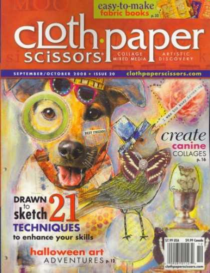 Bestselling Magazines (2008) - Cloth, Paper, Scissor, September/October 2008 Issue