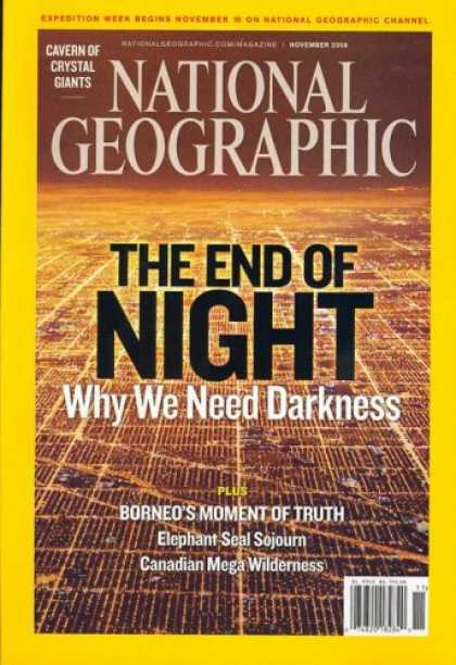 Bestselling Magazines (2008) - National Geographic, November 2008 Issue
