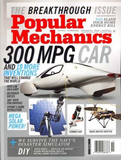 Bestselling Magazines (2008) - Popular Mechanics, November 2008 Issue