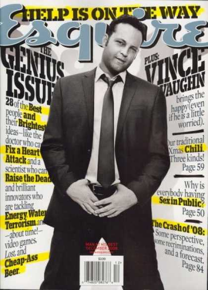 Bestselling Magazines (2008) - Esquire, December 2008 Issue