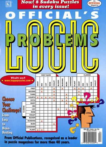 Bestselling Magazines (2008) - Official's Logic Problems