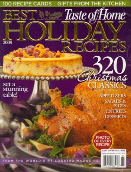 Bestselling Magazines (2008) - Taste Of Home Holiday, Special 2008 Issue