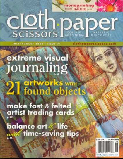 Bestselling Magazines (2008) - Cloth, Paper, Scissors, July/August 2008 Issue