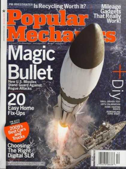 Bestselling Magazines (2008) - Popular Mechanics, December 2008 Issue