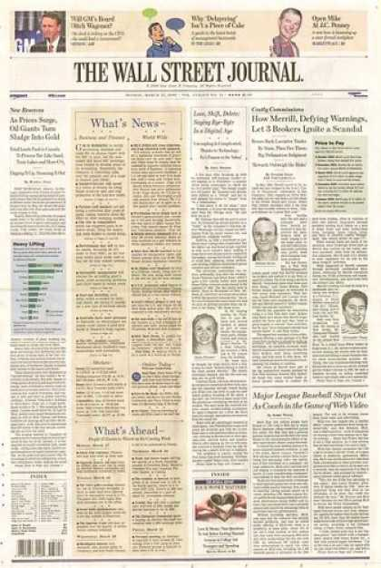 Bestselling Magazines (2008) - The Wall Street Journal [1-year subscription]