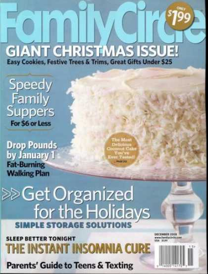 Bestselling Magazines (2008) - Family Circle, December 2008 Issue