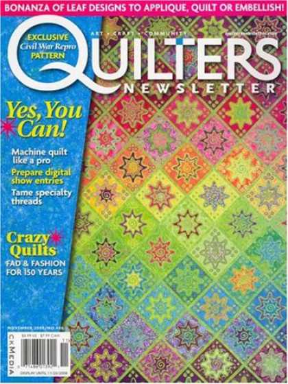 Bestselling Magazines (2008) - Quilter's Newsletter Magazine