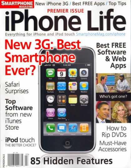 Bestselling Magazines (2008) - IPhone Life, Special 2008 Issue