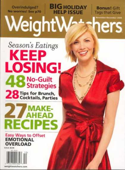 Bestselling Magazines (2008) - Weight Watchers, November/December 2008 Issue