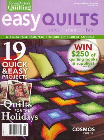 Bestselling Magazines (2008) - Easy Quilts, Winter 2008 Issue