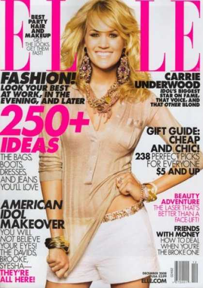 Bestselling Magazines (2008) - Elle, December 2008 Issue
