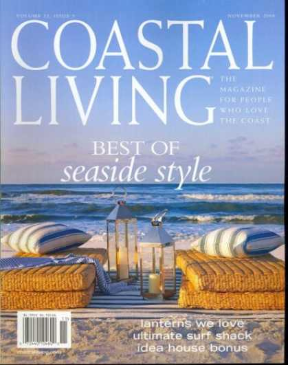 Bestselling Magazines (2008) - Coastal Living, November 2008 Issue