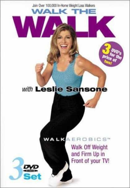 Bestselling Movies (2006) - Leslie Sansone - Walk the Walk 3-DVD Set (Miracle Mile / Two Mile Walk / Weight