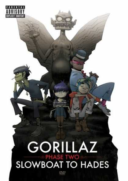 Bestselling Movies (2006) - Gorillaz - Phase Two - Slowboat to Hades by Jamie Hewlett