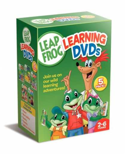 Bestselling Movies (2007) - Leapfrog Learning DVDs 5-Pack (Talking Words Factory / Talking Words Factory II