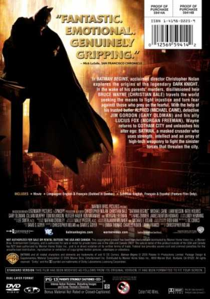 Bestselling Movies (2008) - Batman Begins (Full Screen Edition) by Christopher Nolan