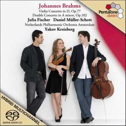 Bestselling Music (2007) - Brahms: Violin Concerto and Double Concerto [SA-CD - CD compatible] by Julia Fis