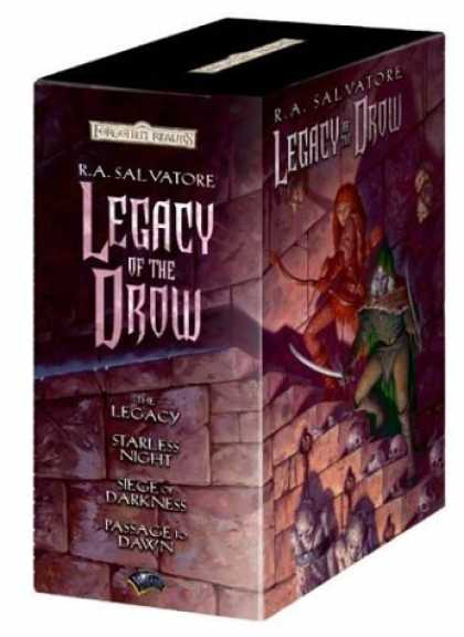 Bestselling Sci-Fi/ Fantasy (2006) - Legacy of the Drow Gift Set: The Legacy, Starless Night, Siege of Darkness, and