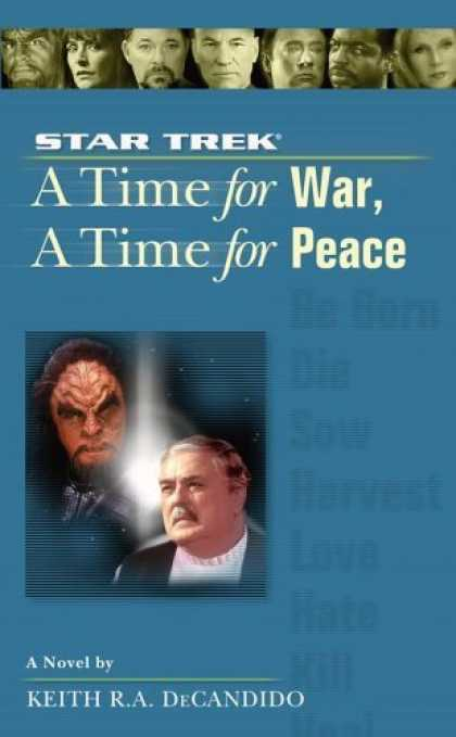 Bestselling Sci-Fi/ Fantasy (2006) - A Time for War, A Time for Peace (Star Trek, the Next Generation) by Keith R. A.