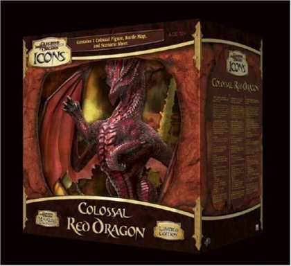 Bestselling Sci-Fi/ Fantasy (2006) - D&D Icons: Colossal Red Dragon (D&D Miniatures Product) by
