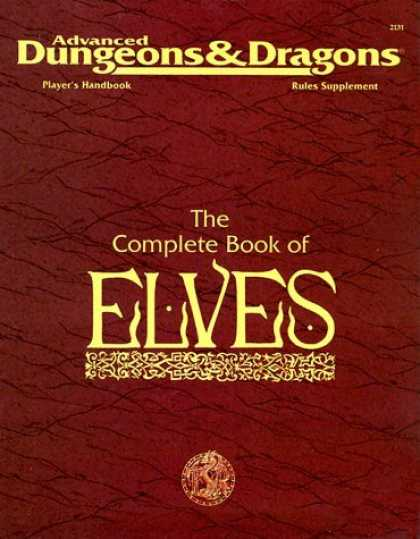 Bestselling Sci-Fi/ Fantasy (2006) - The Complete Book of Elves (Advanced Dungeons & Dragons, 2nd Edition, Player's H