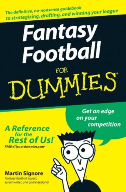 Bestselling Sci-Fi/ Fantasy (2007) - Fantasy Football For Dummies (For Dummies (Sports & Hobbies)) by Martin Signore