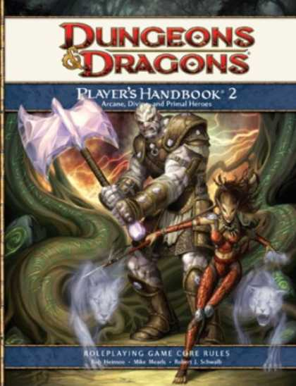 Bestselling Sci-Fi/ Fantasy (2008) - Player's Handbook 2: A 4th Edition D&D Core Rulebook (Bk.2) by Wizards RPG Team