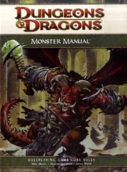 Bestselling Sci-Fi/ Fantasy (2008) - Dungeons & Dragons Monster Manual: Roleplaying Game Core Rules, 4th Edition by W