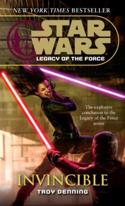 Bestselling Sci-Fi/ Fantasy (2008) - Invincible (Star Wars: Legacy of the Force, Book 9) by Troy Denning