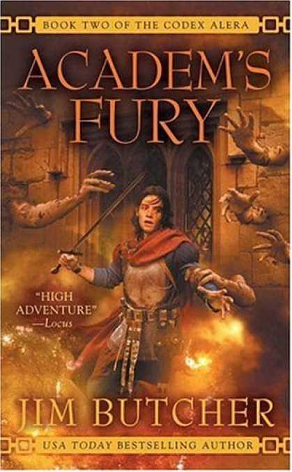 Bestselling Sci-Fi/ Fantasy (2008) - Academ's Fury (Codex Alera, Book 2) by Jim Butcher