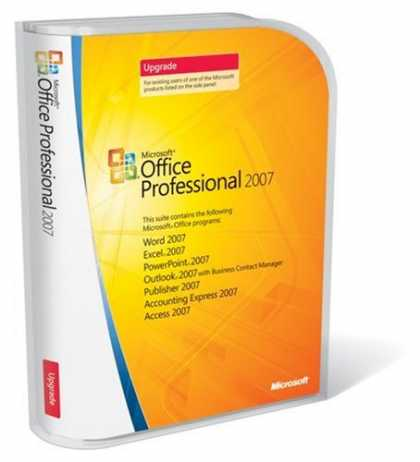 Bestselling Software (2008) - Microsoft Office Professional 2007 UPGRADE