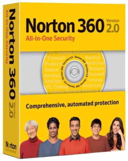 Bestselling Software (2008) - Norton 360 Version 2.0
