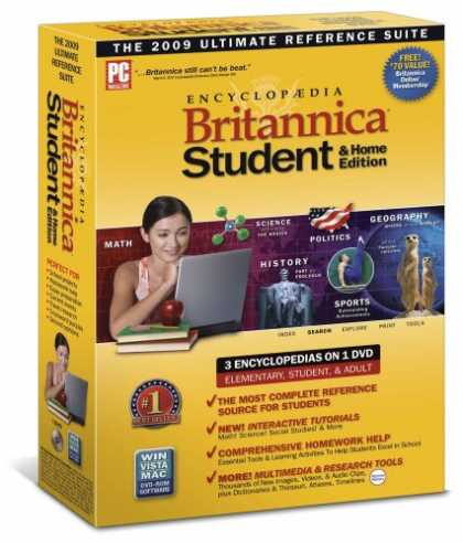 Bestselling Software (2008) - Encyclopedia Britannica 2009 Student and Home Edition