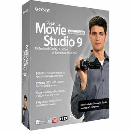 Bestselling Software (2008) - Sony Vegas Movie Studio Platinum 9