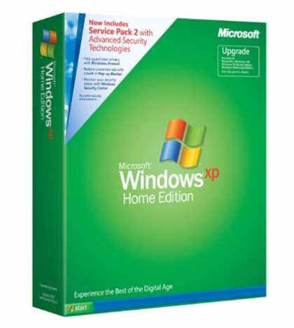 Bestselling Software (2008) - Microsoft Windows XP Home Edition UPGRADE with SP2