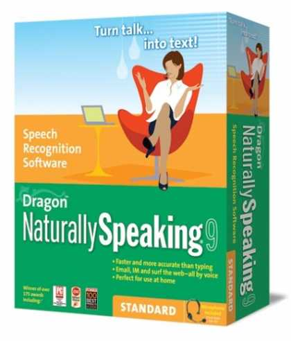 Bestselling Software (2008) - Dragon NaturallySpeaking 9 Standard [OLD VERSION]