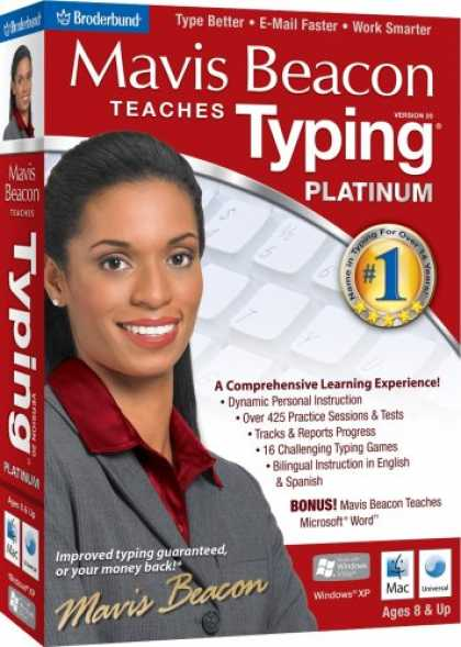 Bestselling Software (2008) - Mavis Beacon Teaches Typing Platinum 20