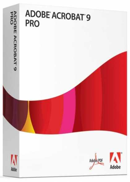 Bestselling Software (2008) - Adobe Acrobat Professional 9