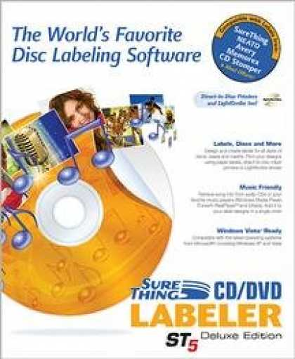Bestselling Software (2008) - Surething CD/DVD Labeler: Deluxe ST5