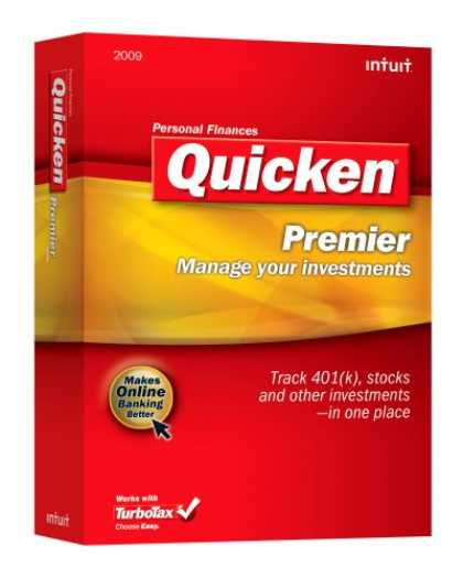 Bestselling Software (2008) - Quicken Premier 2009