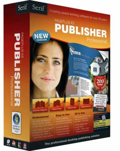 Bestselling Software (2008) - PagePlus X3 Publisher Professional