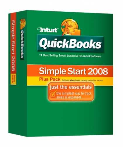 Bestselling Software (2008) - QuickBooks Simple Start Plus Pack 2008 [OLD VERSION]