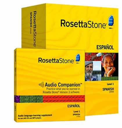 Bestselling Software (2008) - Rosetta Stone Version 3: Spanish (Spain) Level 1 with Audio Companion