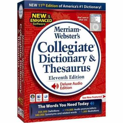 Bestselling Software (2008) - Merriam Websters Collegiate Dictionary & Thesaurus 11th Edition