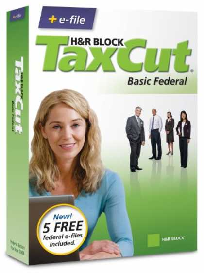 Bestselling Software (2008) - H&R Block TaxCut 2008 Basic Federal + e-file