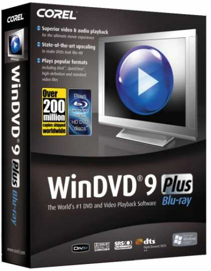 Bestselling Software (2008) - Corel WinDVD 9 Plus (Blu-ray)