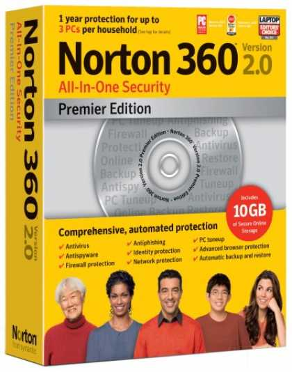 Bestselling Software (2008) - Norton 360 Version 2.0 Premier Edition